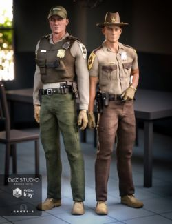 Law Enforcement Outfits Textures for Genesis 2 and 3 Male(s)