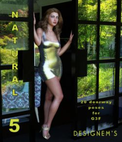 Natural 5 poses for G3F