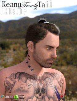 Keanu Trendy Tail Hair for Genesis 3 Male(s)