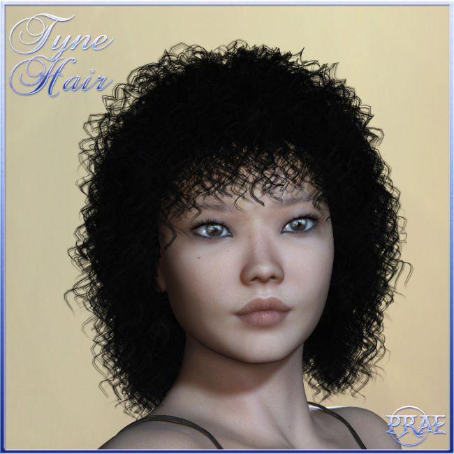 Prae-Tyne Hair for Poser
