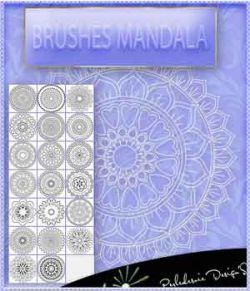 Brushes Mandala