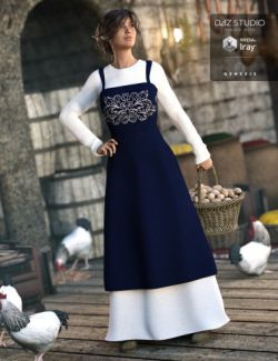 Peasant Dress for Genesis 3 Female(s)