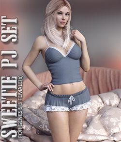 Sweetie PJ Set for Genesis 3 Females