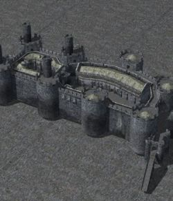 Castle Set 1 in obj format - Extended License