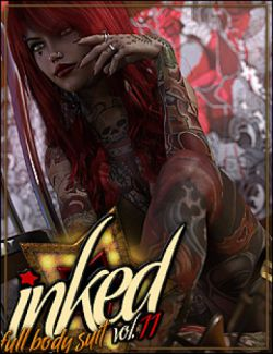 Inked Vol.11: The Full Bodysuit for Genesis 3 Female(s)