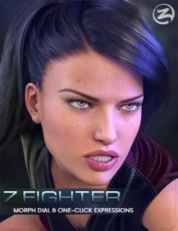 Z Fighter - Morph Dial & One-Click Expressions for Genesis 3 Female