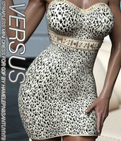 VERSUS- Strapless Mini Dress for G3 and V7