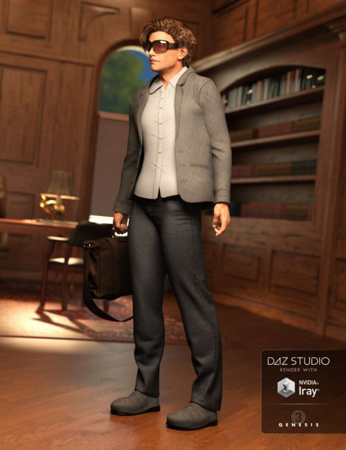 Day at the Office Outfit for Genesis 3 Male(s)