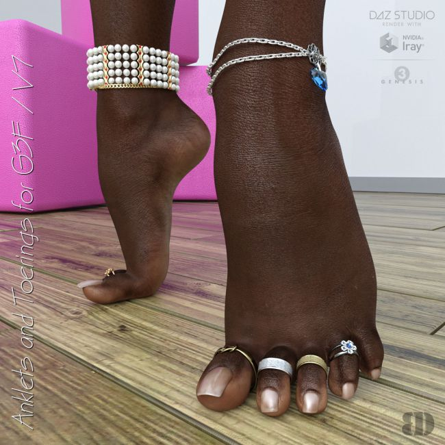 Anklets and Toerings for G3F/V7
