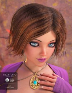Choppy Bob Hair for Genesis 3 Female(s)