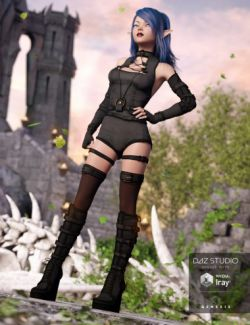 Skull Crusher Outfit for Genesis 3 Female(s)