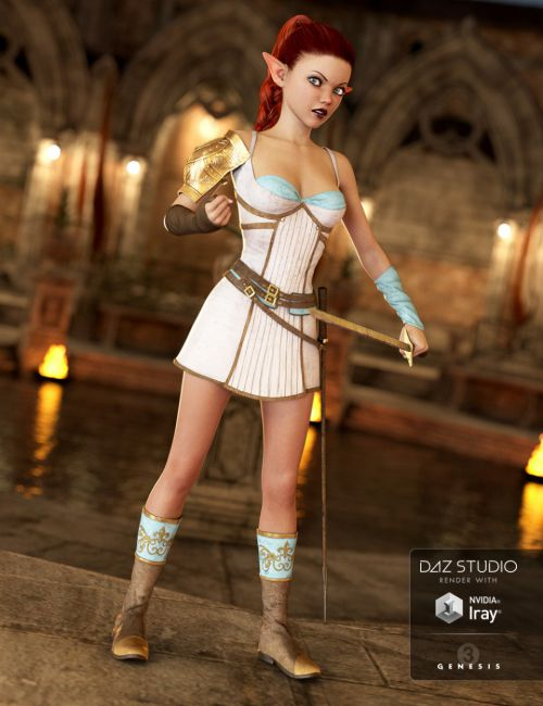 Princess Aaliyah Outfit for Genesis 3 Female(s)