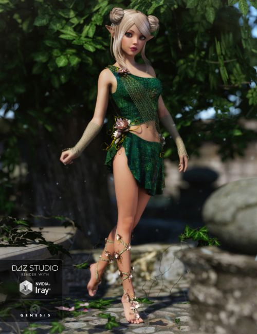 Mischievous Fairy Outfit for Genesis 3 Female(s)