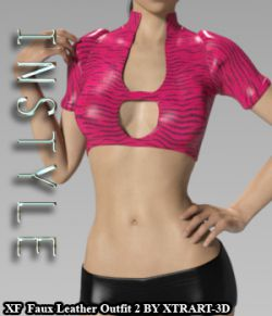 InStyle- X-Fashion Faux Leather Outfit2 for Genesis 3 Females