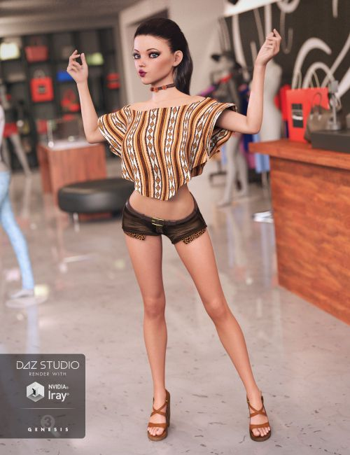 Miami Summer Outfit for Genesis 3 Female(s) | 3D models for