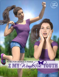 Z My Wonderful Youth - Poses for Genesis 3 Female & Mika 7