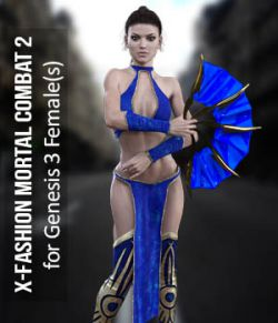 X-Fashion Combat 02 Bodysuit for Genesis 3 Females