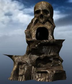 Skull Rock Mountain obj format - Extended License