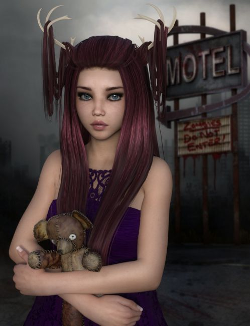 Fawna Hair for Genesis 3 Female(s)
