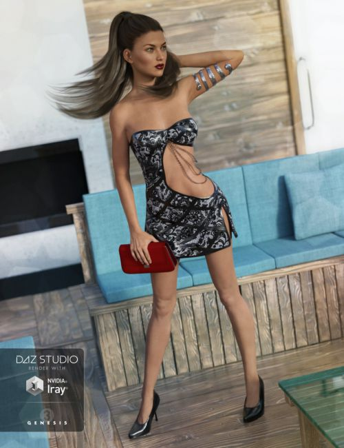 Club Night Outfit for Genesis 3 Female(s)