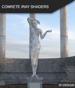 Concrete Shader Presets for Iray and Merchant Resource