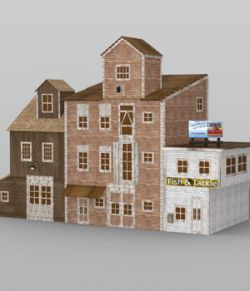 Wharf Building for DAZ Studio
