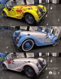 Sports Car Morris Showcar Iray