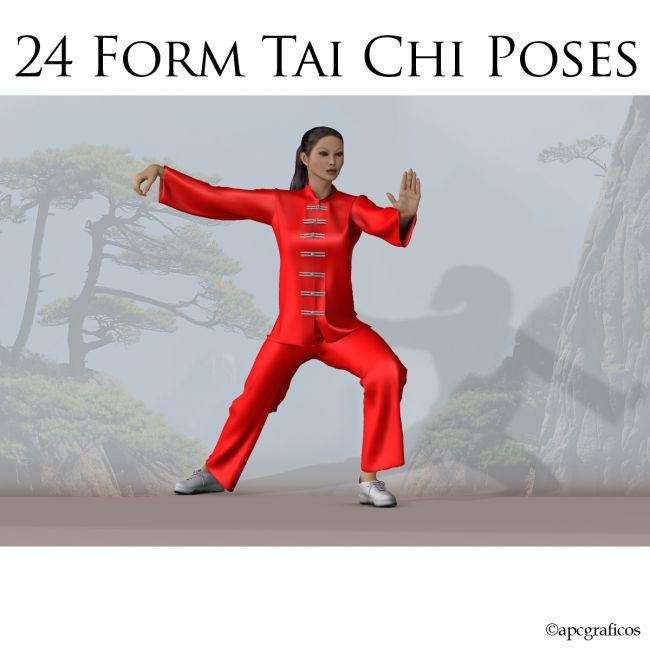 24 Form Tai Chi Poses