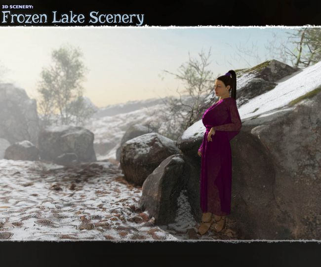 3D Scenery: Frozen Lake Scenery