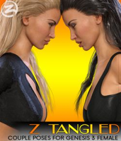 Z Tangled- Couple poses for Genesis 3 Female & Victoria 7