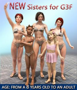 NEW Sisters for G3F- Full Custom Character Morphs