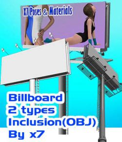 Billboard 2 types Inclusion(OBJ)By x7- Extended License