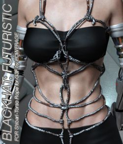 BLACKHAT:FUTURISTIC- Shibari- Torso Rope for G3 females