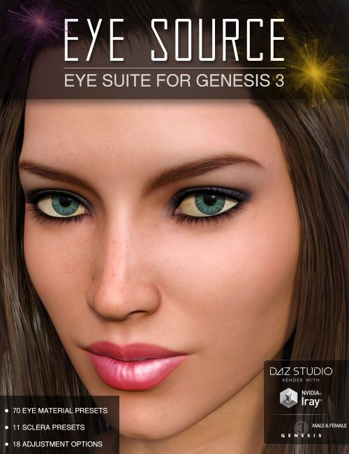 Eye Source - Eyes Presets for Genesis 3 Males and Females