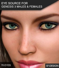 Eye Source- Eyes Presets for Genesis 3 Males and Females