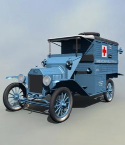 FORD T AMBULANCE 1917 - Extended License