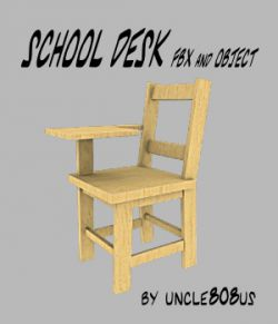 School Desk FBX_OBJ
