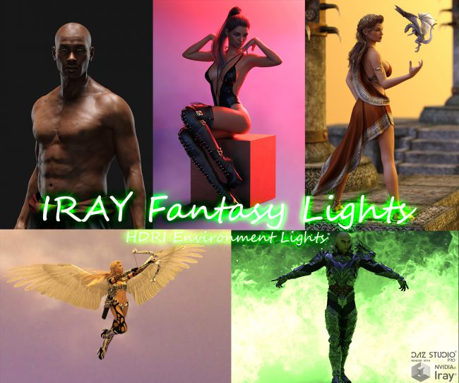 IRAY Fantasy Lights for DAZ Studio
