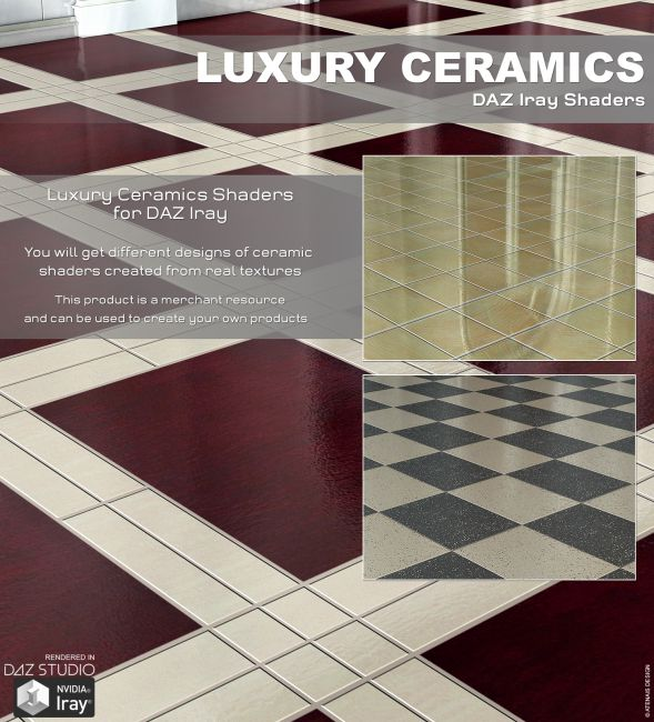 DAZ Iray - Luxury Ceramics
