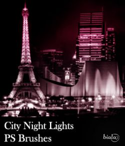 City Night Lights PS Brushes