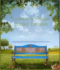 FS Leaves & Foliage Border Brushes