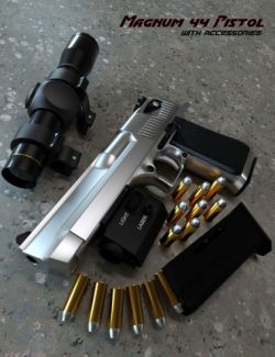 Magnum 44 Pistol with Accessories