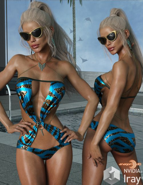 VERSUS - Poolside Glam Outfit for Genesis 3 Females
