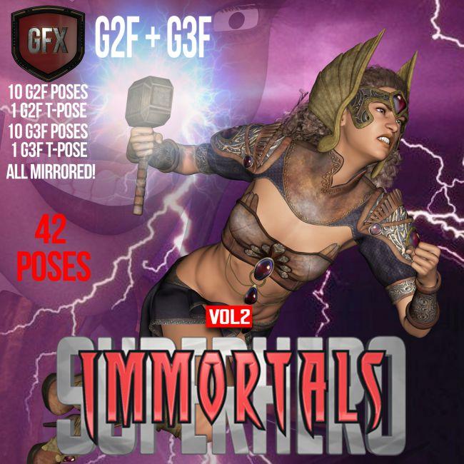 SuperHero Immortals for G2F &G3F Volume 2