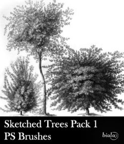 Sketched Trees PS Brushes Pack 1