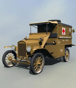 FORD T AMBULANCE 1918 EXTENDED LICENSE