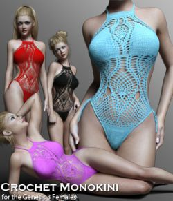 Crochet Monokini for Genesis 3 Female