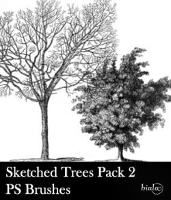 Sketched Trees PS Brushes Pack 2