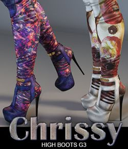 Chrissy High Boots for Genesis 3 Female(s)