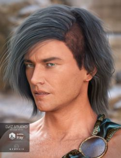 Declan Hair for Genesis 3 Male(s)